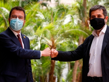 Aragonès y Sánchez presentan su acuerdo de Govern