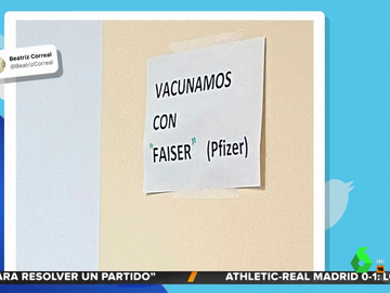 """""""Vacunamos con Faiser"""": el cartel viral de un centro de salud sobre las vacunas"""
