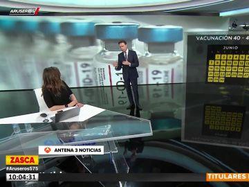 Matías Prats sorprende a Mónica Carrillo en pleno directo con un 'dardo' sobre la vacunación