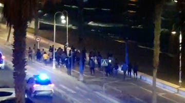 Captura de vídeo de la entrada de migrantes en Melilla