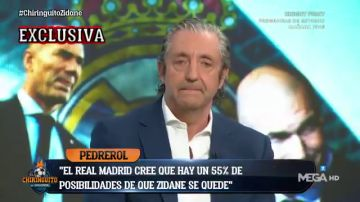 """Exclusiva de Pedrerol: """"El Real Madrid cree que hay un 55% de posibilidades de que Zidane se quede"""""""