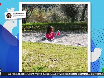 ¿Dónde está la parte inferior del cuerpo de esta niña? La ilusión óptica que arrasa en redes sociales
