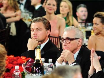Di Caprio y Scorsese en los Globos de Oro