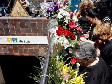 Recuerdo a las víctimas del accidente de metro de Valencia