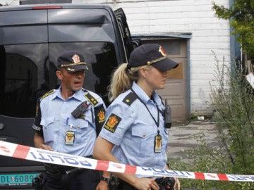 Imagen de archivo de policías en Oslo