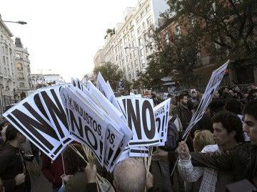 Imagen de archivo de una de las manifestaciones del 25-S
