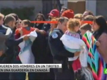 Mueren en un tiroteo dos hombres en una guardería de Canadá