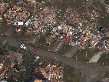 Vista aérea de Moore, Oklahoma