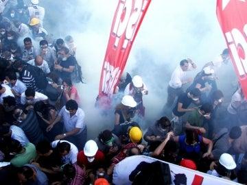 Manifestantes en la Plaza Taksim