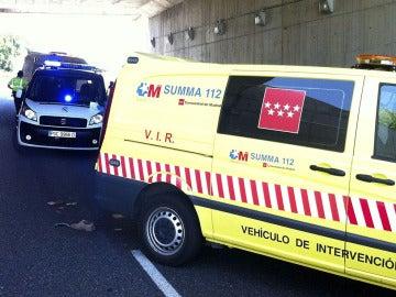 Furgón del Servicio de Emergencias de la Comunidad de Madrid 112