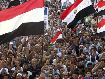 Islamistas partidarios de Mohamed Mursi