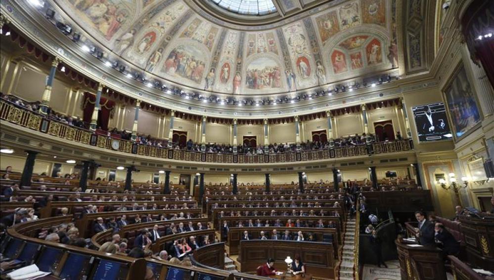 Vista general de hemiciclo del Congreso de los Diputados.