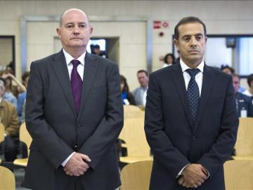 El exjefe superior de Policía del País Vasco Enrique Pamiés y el exinspector José María Ballesteros