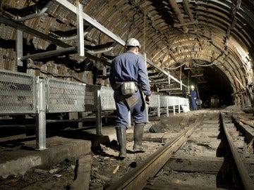 Mineros en la galería General Pozo Emilio