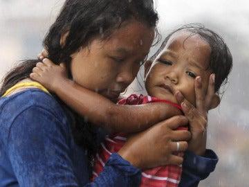 Víctimas del tifón en Filipinas