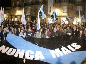 Miles de personas protestan en Galicia en una manifestación anterior