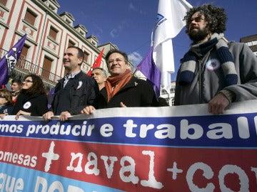 Nueva manifestación en Ferrol para exigir soluciones para los astilleros