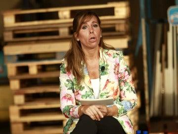 La expresidenta del PPC, Alícia Sánchez-Camacho durante su intervención en el acto del partido
