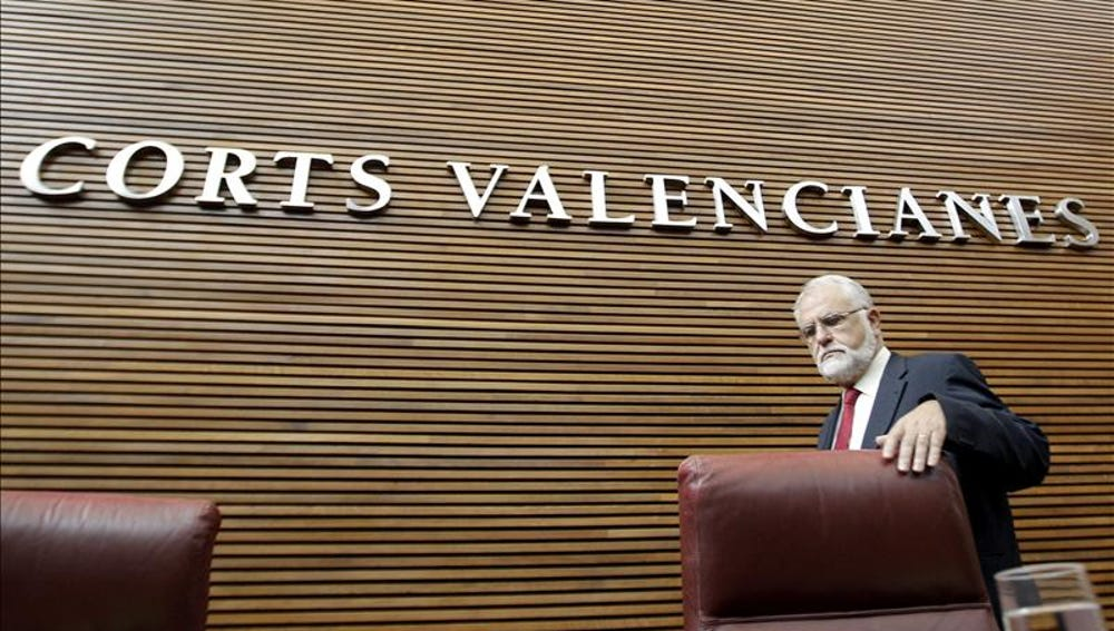Juan Cotino en las Cortes Valencianas (Archivo)