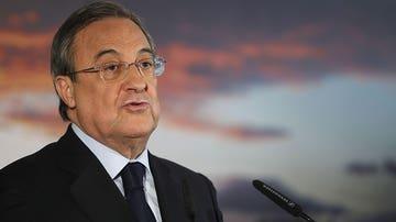 Florentino Pérez, durante la rueda de prensa