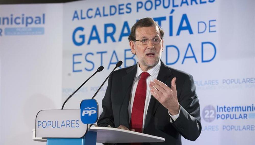 Mariano Rajoy, en la Intermunicipal del PP en Murcia