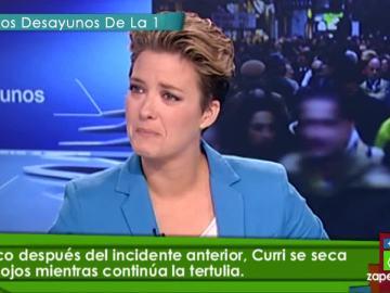 Duelo de lágrimas entre María Casado y Curri Valenzuela