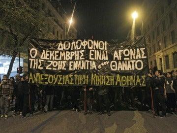 Protesta ciudadana por la situación del joven preso anarquista en Grecia