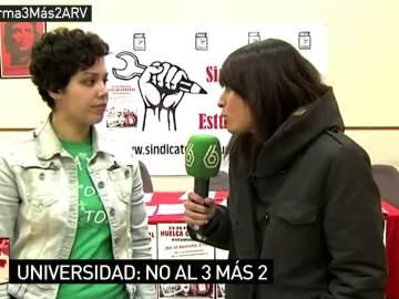 Ana García, sindicato de Estudiantes