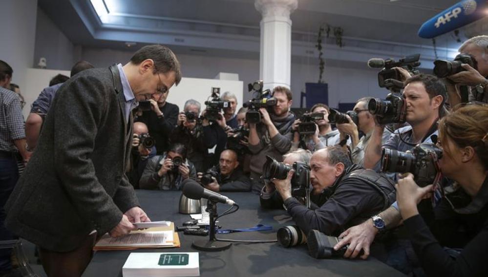 Juan Carlos Monedero en rueda de prensa