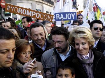 Esperanza Aguirre  apoya la manifestación contra el aborto