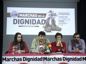 Las marchas de la Dignidad salen a la calle el 21M y mantienen la huelga general el 22-O