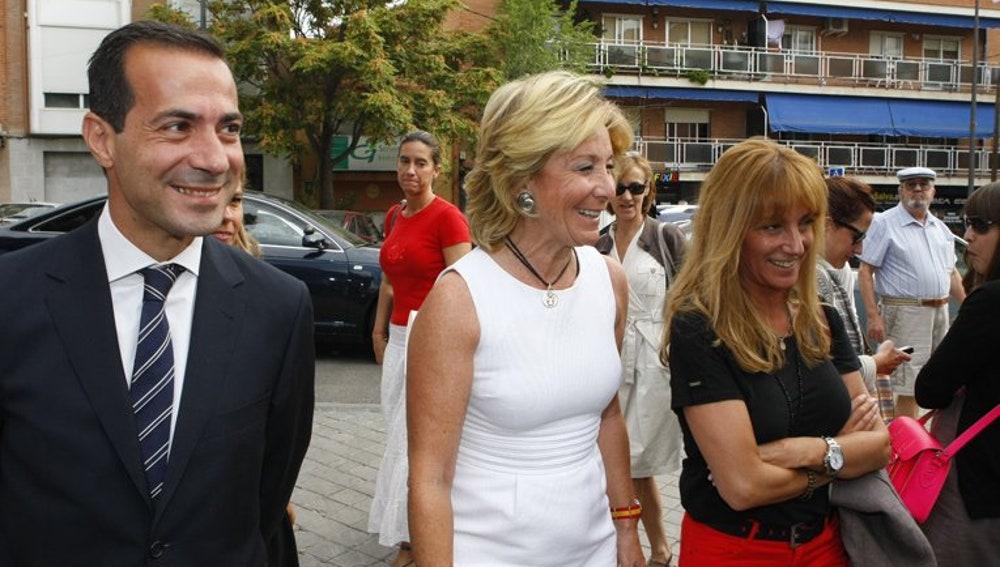 Esperanza Aguirre junto a Isabel Gallego en un acto