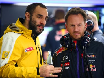 Cyril Abiteboul y Christian Horner