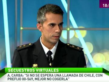 """A. Carba: """"Si no se espera una llamada de Chile, con prefijo 00-569, mejor no cogerla"""""""
