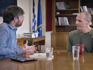 Jordi Évole entrevista a Yanis Varoufakis