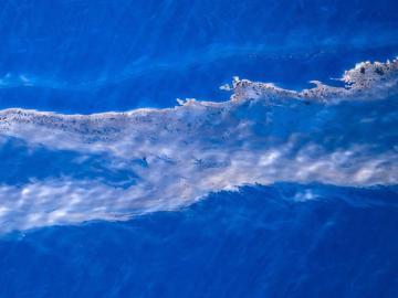 Imagen del vertido de fuel cerca de Canarias