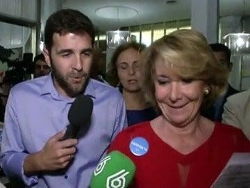 Gonzo pregunta a Aguirre sobre la actividad lobista de su marido