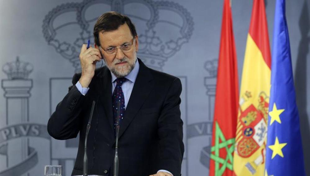 Mariano Rajoy comparece ante la prensa en Moncloa