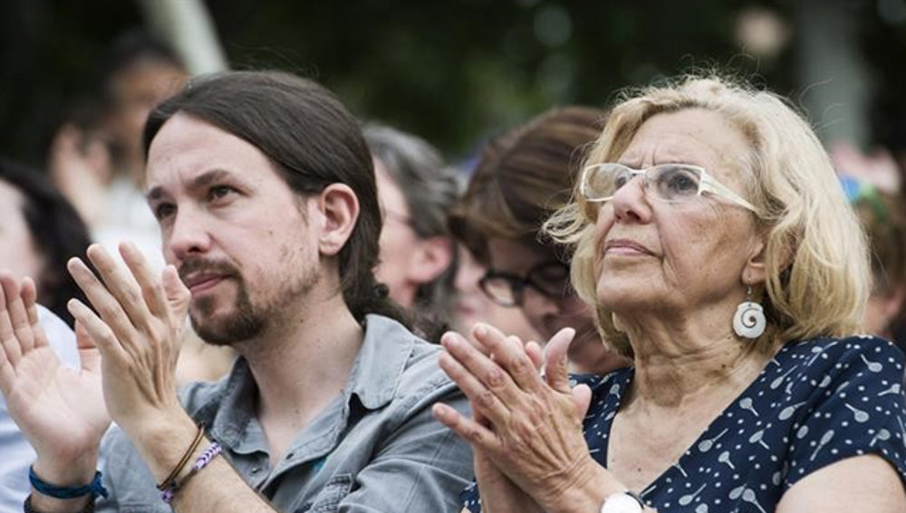 Pablo Iglesias y Manuela Carmena