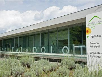 Imagen del hospital de Olot (Girona)