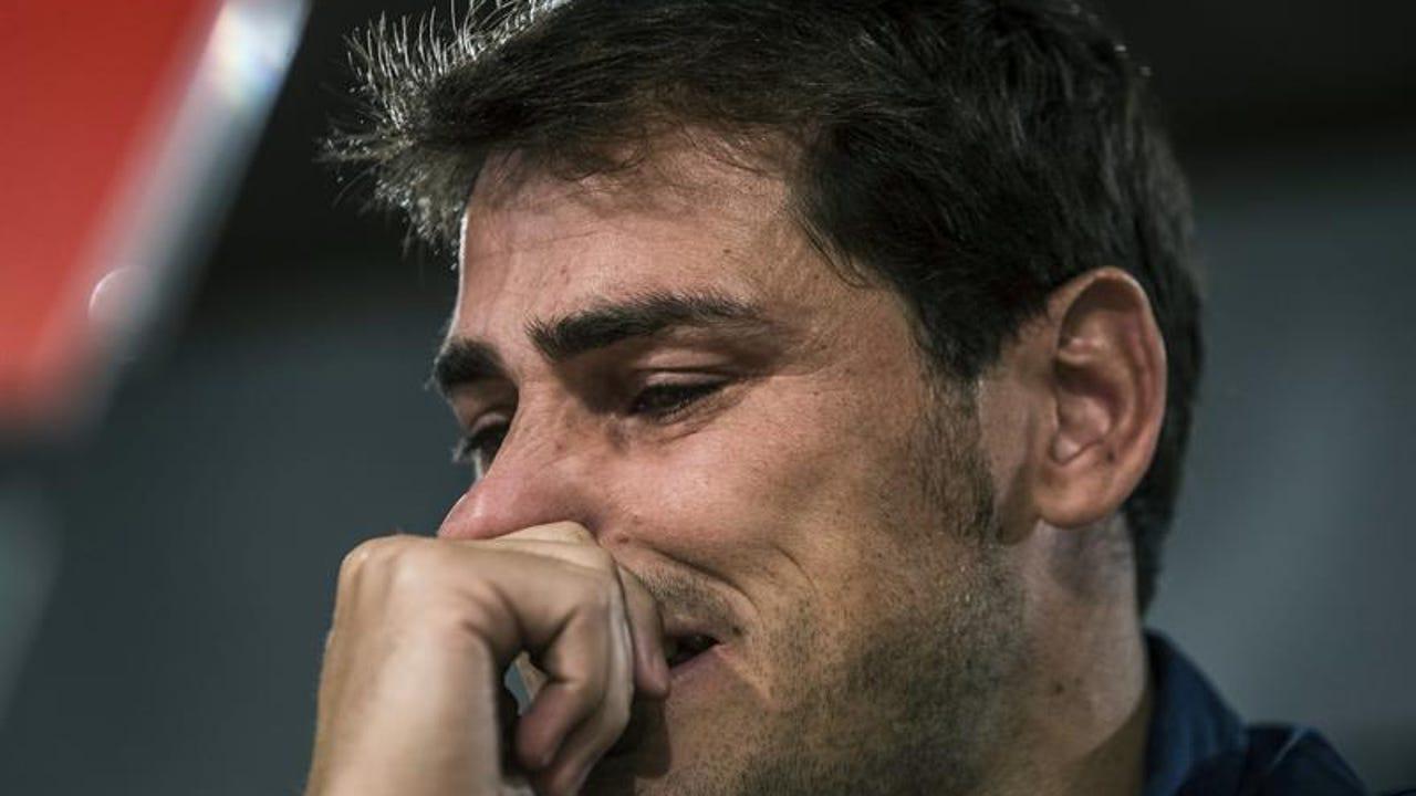 Iker Casillas en su despedida del Real Madrid