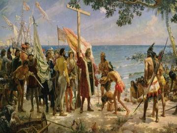 La llegada de Cristóbal Colón a América