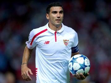 José Antonio Reyes, durante un partido de Champions League