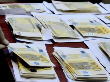 Billetes de 200 euros falsos