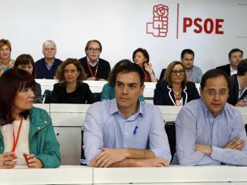 Pedro Sánchez en el Comité Federal del PSOE