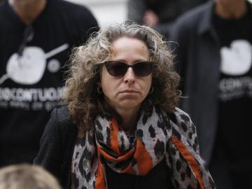 Ester Quintana, a su llegada al juicio