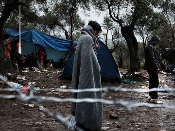 Campo de refugiados en Lesbos
