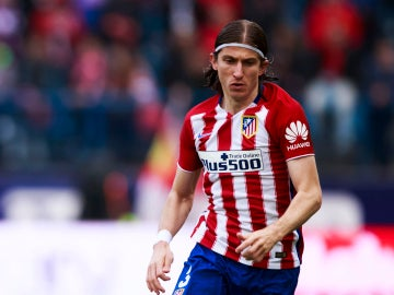Filipe Luis, durante un partido con el Atlético de Madrid