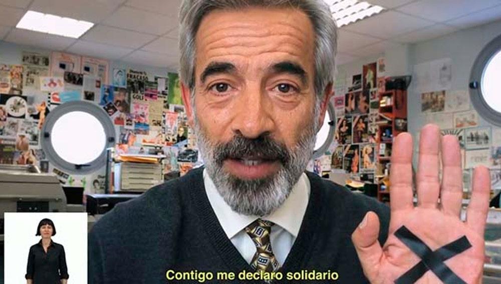 Imanol Arias en la campaña de Hacienda que protagonizó en el año 2014