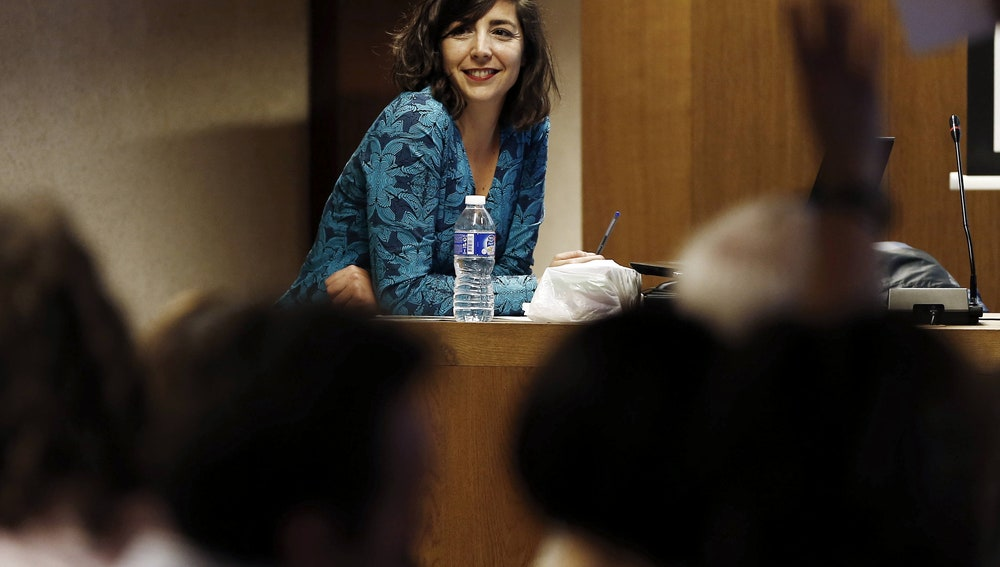 La secretaria general de Podemos en Navarra Laura Pérez
